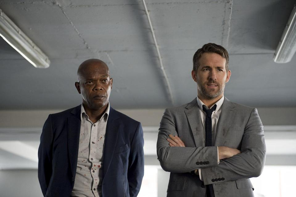 Samuel L Jackson and Ryan Reynolds in 'The Hitman's Bodyguard' (Lionsgate)