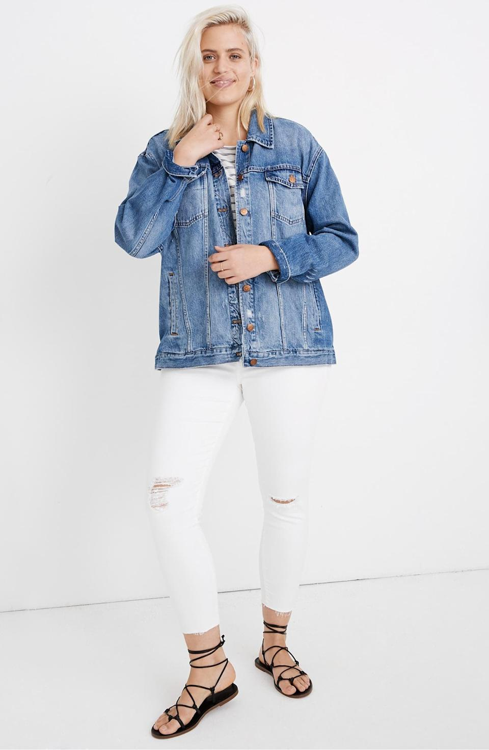 <p>This <span>Madewell The Oversized Jean Jacket</span> ($128) is always a good idea.</p>