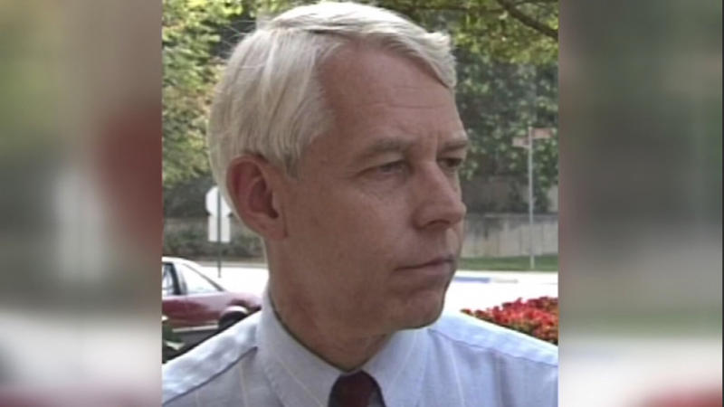 This 1992 image made from video provided by WBNS-TV, shows Dr. Richard Strauss. A report released on Friday, May 17, 2017, found that the now-dead Ohio State team doctor sexually abused at least 177 male students from the 1970s through the 1990s, and numerous university officials got wind of what was going on over the years but did little or nothing to stop him. (WBNS-TV via AP)