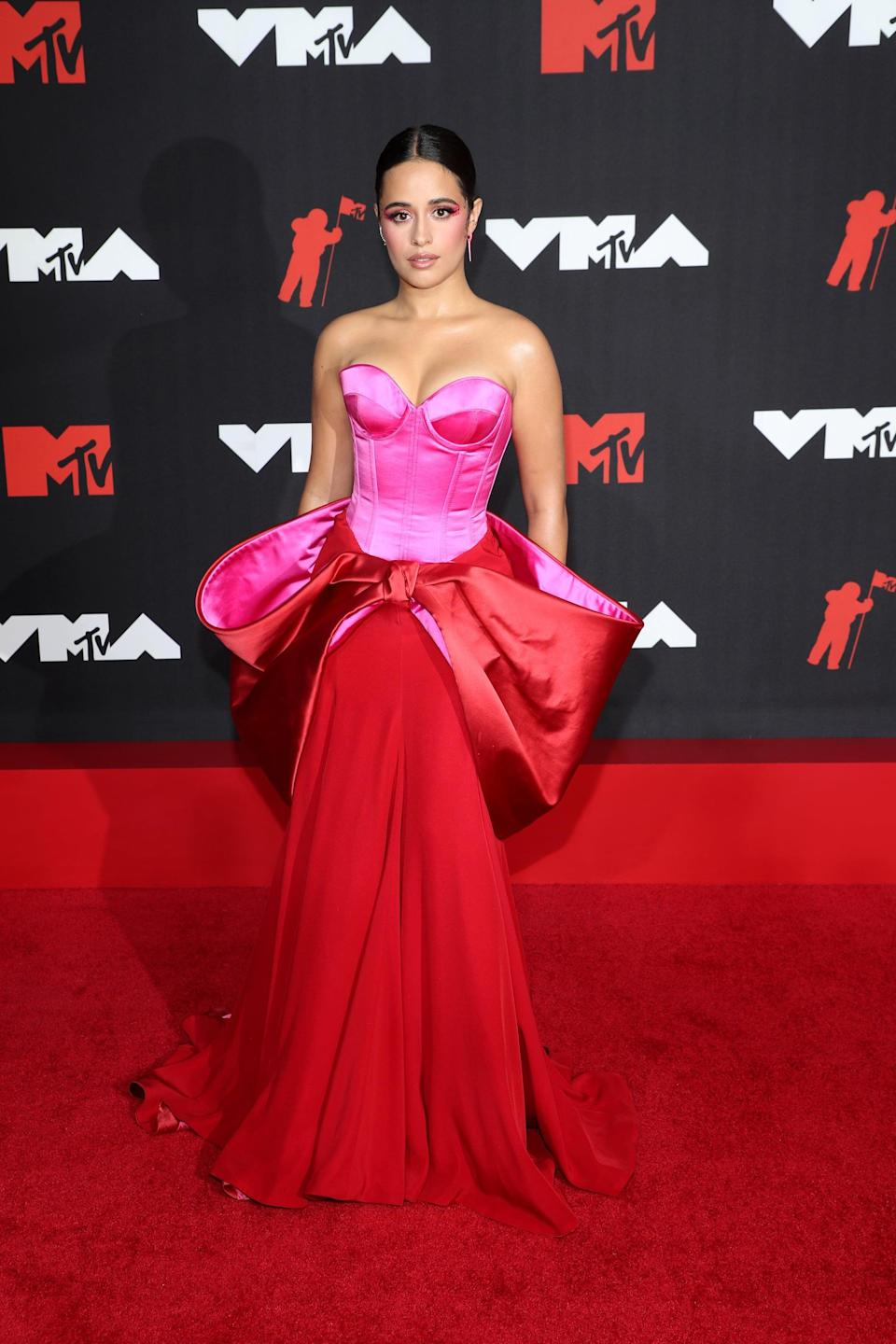 <p>Wearing an Alexis Mabille Couture gown with Giuseppe Zanotti shoes and jewels from Melissa Kaye and Katkim.</p>