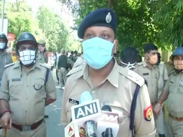 Somen Burma, Deputy Commissioner of Police, Lucknow speaking to reporters on Monday. Photo/ANI