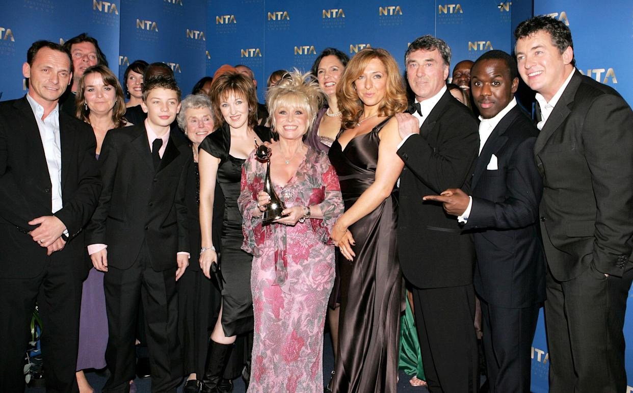The Eastenders cast at the National Television Awards 2005. Getty Images.