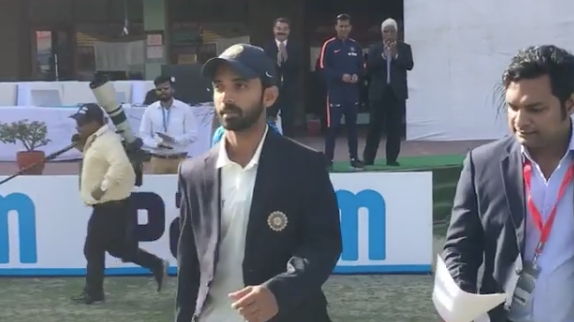 Watch | Rahane Walks Out For Toss as India's 33rd Test Captain