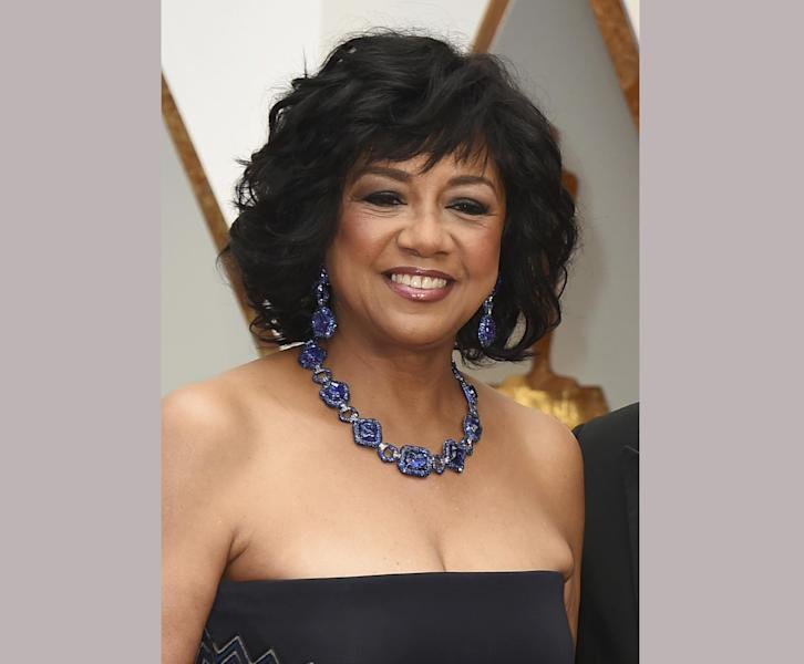 FILE - In this Feb. 26, 2017 file photo, Cheryl Boone Isaacs arrives at the Oscars on Sunday, Feb. 26, 2017, at the Dolby Theatre in Los Angeles. Boone Isaacs says the two accountants responsible for the best picture mistake will not work the Oscars again. Brian Cullinan and Martha Ruiz were responsible for the winners' envelopes at Sunday's Oscar show. Cullinan tweeted a photo of Emma Stone from backstage minutes before handing presenters Warren Beatty and Faye Dunaway the wrong envelope for best picture. Boone Isaacs said Cullinan's distraction caused the error. (Photo by Jordan Strauss/Invision/AP, File)