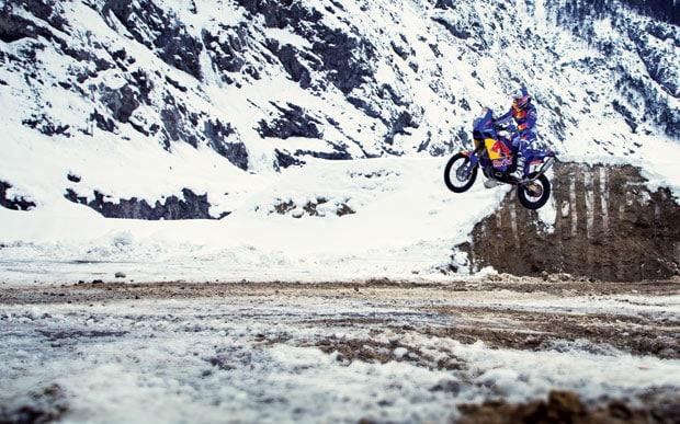 Luc Alphand riding motocross bike - Credit: Agustin Munoz/Red Bull Content Pool