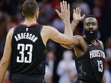 NBA: James Harden propels Rockets to victory over Grizzlies; Warriors, Thunder, Spurs win