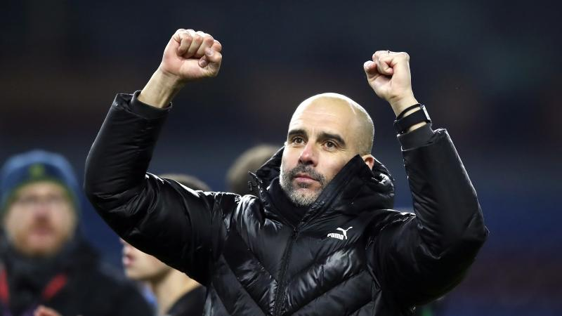 Pep Guardiola believes it is 'crazy' for Manchester City to think about title