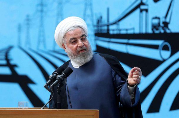 PHOTO: In this photo released by the official website of the office of the Iranian Presidency, President Hassan Rouhani speaks in a conference in Tehran, Iran, Monday, Aug. 26, 2019. (Iranian Presidency Office via AP)