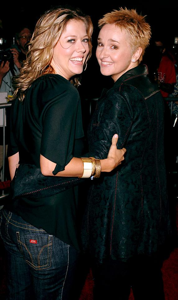 "Melissa Etheridge and wife Tammy Lynn Michaels couldn't be happier. The couple has their hands full with baby twins. Steve Granitz/<a href=""http://www.wireimage.com"" target=""new"">WireImage.com</a> - August 31, 2005"