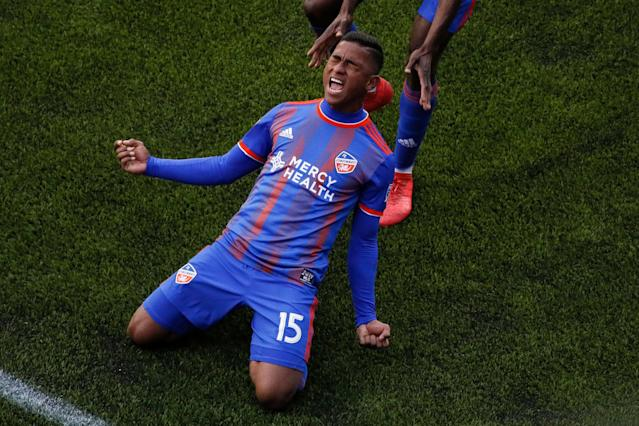 Allan Cruz and FC Cincinnati figure to have more to celebrate after this weekend. (AP)