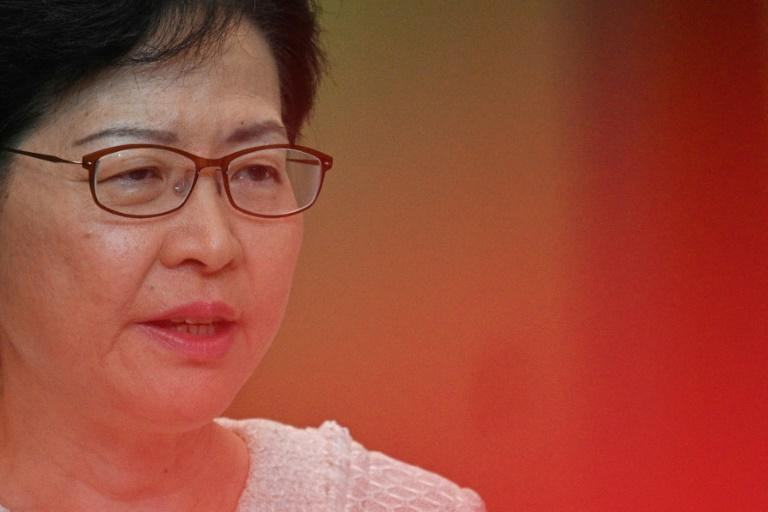 Hong Kong leader Carrie Lam has warned Washington not to 'interfere' as the city battles a major political crisis