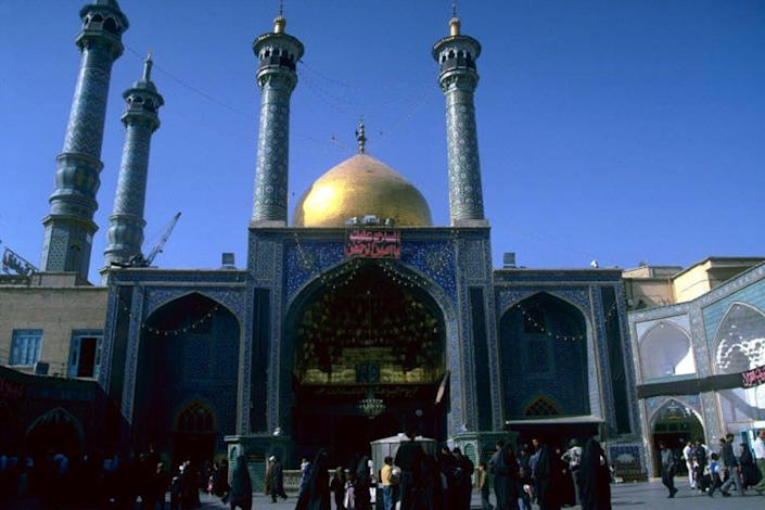 """<span class=""""caption"""">Golden Iwan, Shrine of Fatima Masuma, built in the eighth century, is also a leading Shii seminary in Iran.</span> <span class=""""attribution""""><span class=""""source"""">Kishwar Rizvi</span>, <a class=""""link rapid-noclick-resp"""" href=""""http://creativecommons.org/licenses/by-sa/4.0/"""" rel=""""nofollow noopener"""" target=""""_blank"""" data-ylk=""""slk:CC BY-SA"""">CC BY-SA</a></span>"""