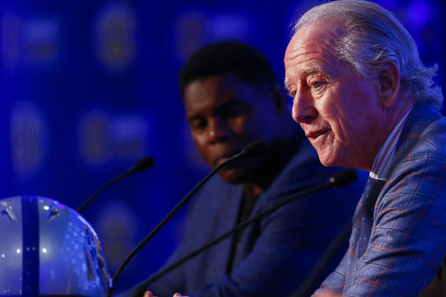 Archie Manning, shown here at SEC Media Days in July, recently told the Indianapolis Star that son Peyton would like to get back into the NFL at some point. (AP)