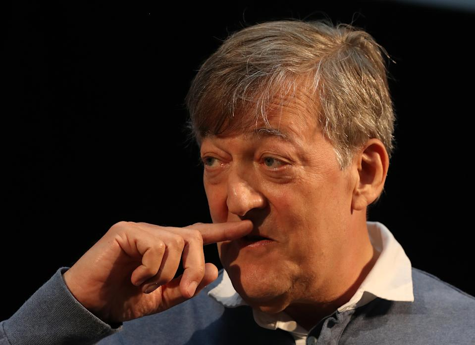 Stephen Fry presenting the 2019 Dave's Edinburgh Comedy Awards, at Dovecot Studio in Edinburgh. (Photo by Andrew Milligan/PA Images via Getty Images)
