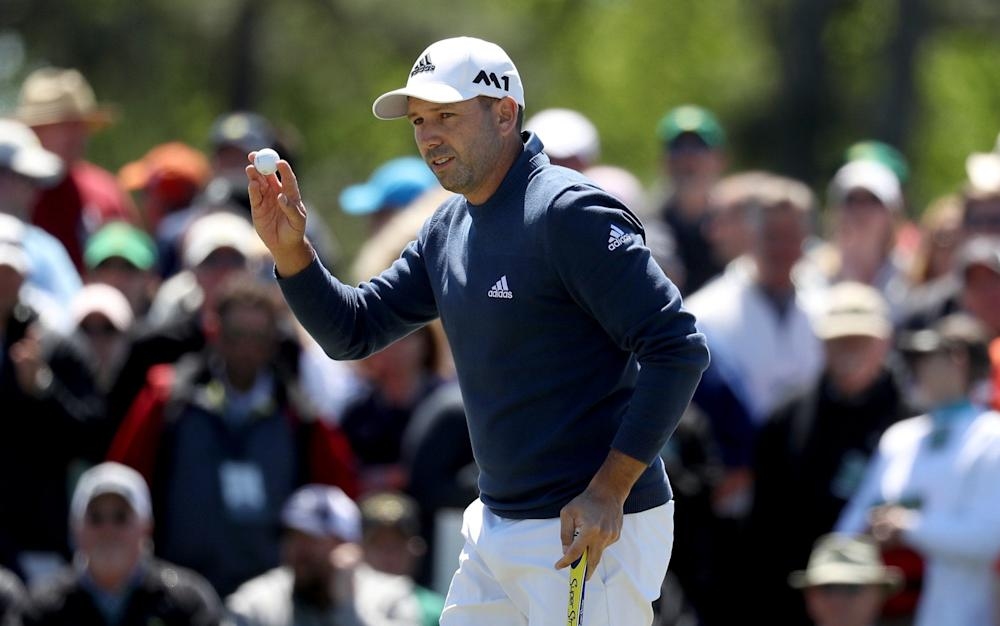 Sergio Garcia of Spain reacts to a birdie putt on the ninth hole during the second round of the 2017 Masters Tournament at Augusta National Golf Club on April 7, 2017 in Augusta, Georgia - Credit: Getty