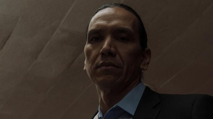 "Michael Greyeyes in ""Wild Indian"""
