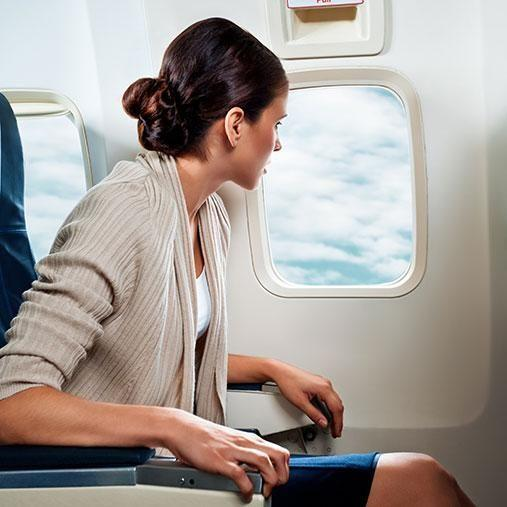 Avoid turbulence by sitting at the front. Photo: Getty