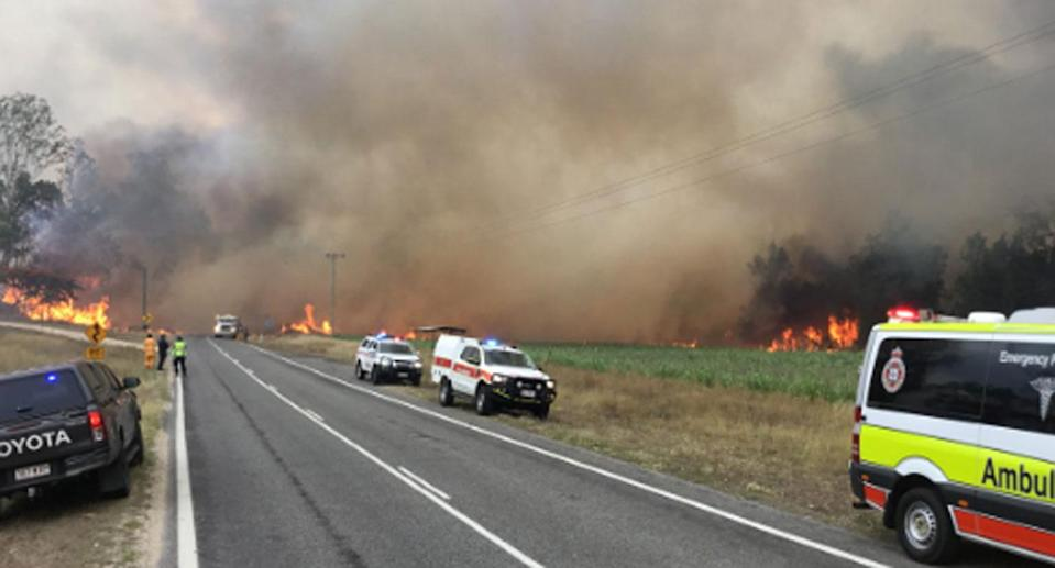 Police warn 'people will burn to death' as residents refuse to evacuate. Image: 7 News