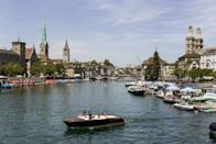 <p>It only has 400,000 residents by the Swiss city of Zurich, perched on the edge of Lake Zurich, is the second best city in the world to live in. (Rex)</p>