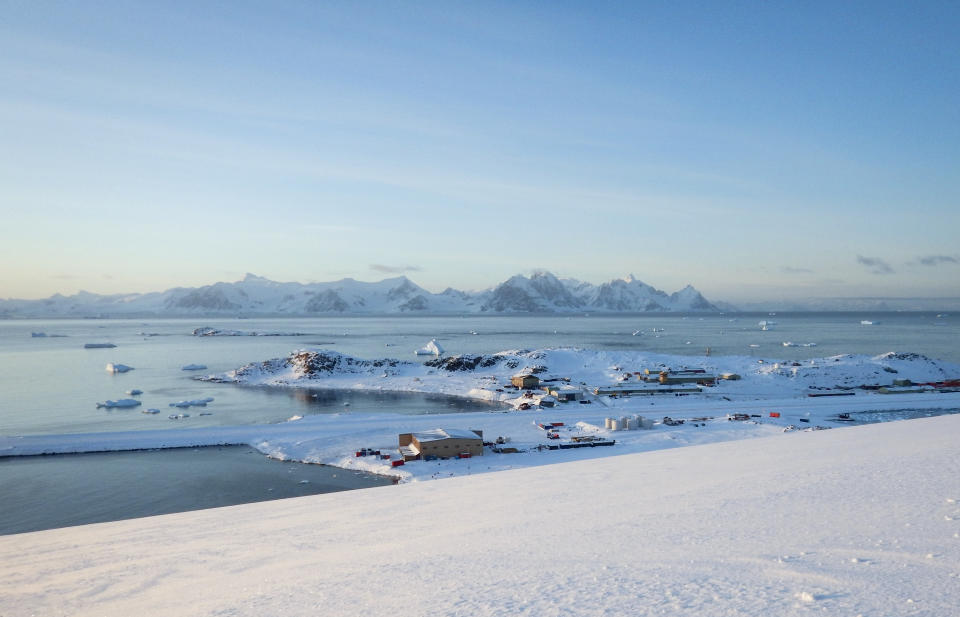 Rothera research station, in Antarctica, is seen in April last year.