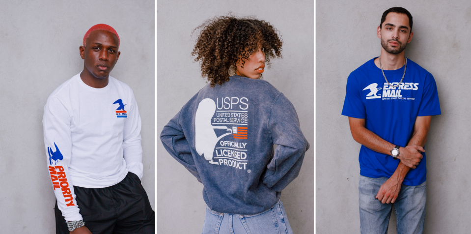 The United States Postal Service teams up with Fred Segal for a capsule collection. (Photo: Fred Segal)