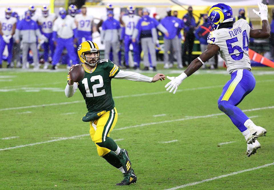 Aaron Rodgers and the Packers had more than enough to beat the Rams. Do they have enough to win the Super Bowl? (Photo by Dylan Buell/Getty Images)