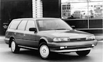 <p>Four short years after the first Camry was introduced, Toyota launched a second-generation model for 1987. The new model boasted more interior space and more variety in the lineup. Although its wheelbase was the same as the first-generation Camry's, the new car was longer and wider and had a larger trunk. Its more rounded lines also made for better aerodynamics, although the rectilinear three-box-sedan profile remained. A new wagon spinoff used the same 16-valve 2.0-liter four-cylinder as the sedan; its new engine offered 20 more horsepower than before, for a total of 112 hp.</p>