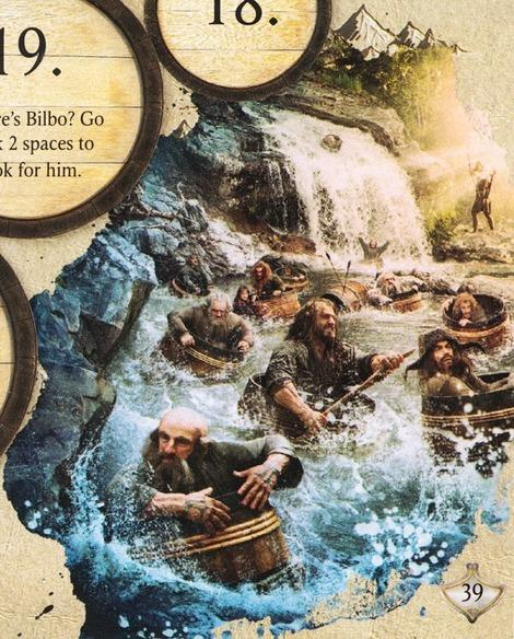 The Hobbit: Desolation of Smaug Annual: The dwarves negotiating the barrel rapids.