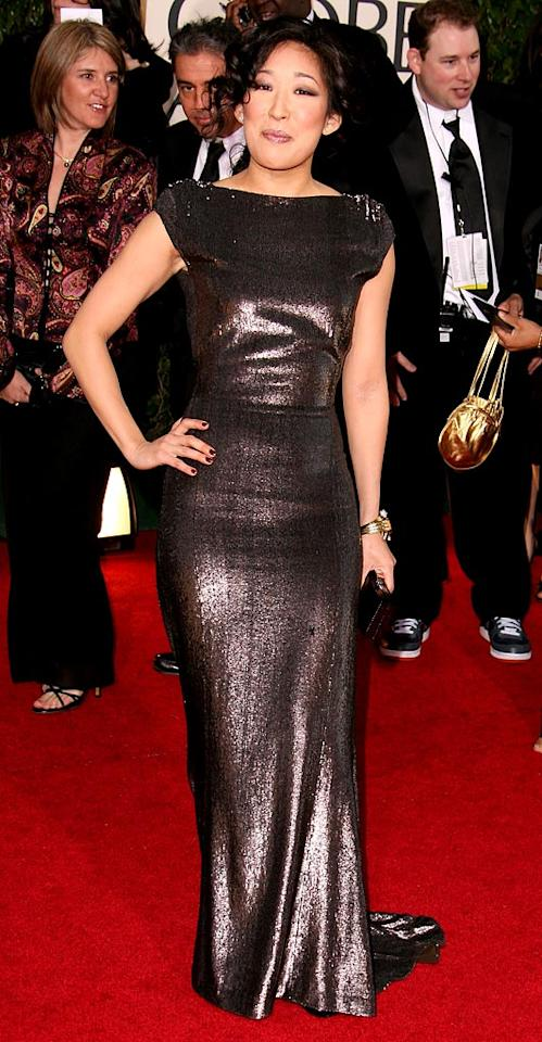 """<a href=""""/sandra-oh/contributor/45430"""">Sandra Oh</a> at <a href=""""/the-64th-annual-golden-globe-awards/show/40075"""">the 64th annual Golden Globe Awards</a>."""