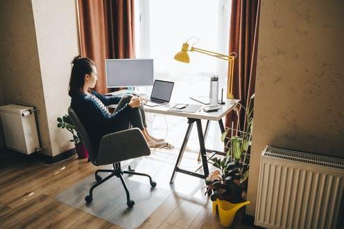 """<span class=""""caption"""">The right to flexible work should be extended to all employees from the start of their contracts. </span> <span class=""""attribution""""><a class=""""link rapid-noclick-resp"""" href=""""https://www.shutterstock.com/image-photo/woman-working-home-telework-on-laptop-1679636683"""" rel=""""nofollow noopener"""" target=""""_blank"""" data-ylk=""""slk:Vera Petrunina/Shutterstock"""">Vera Petrunina/Shutterstock</a></span>"""