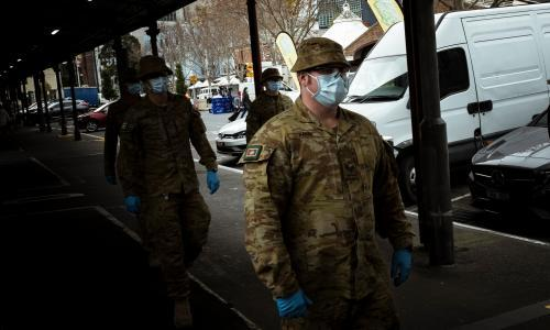 'Very dead': army and police patrol the deserted streets of coronavirus-stricken Melbourne