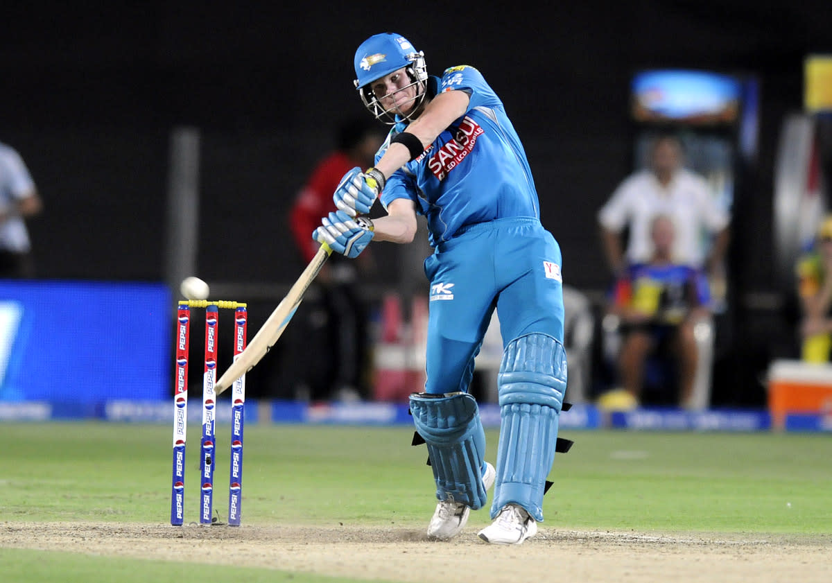 Steve Smith of Pune Warriors bats during match 42 of the Pepsi Indian Premier League ( IPL) 2013  between The Pune Warriors India and the Chennai Super Kings held at the Subrata Roy Sahara Stadium, Pune on the 30th April  2013. (BCCI)