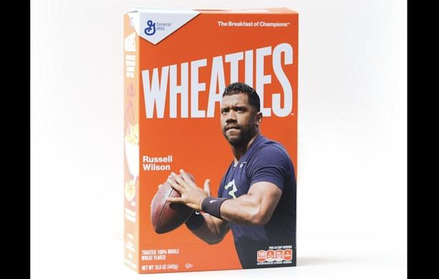 Russell Wilson will soon be on a Wheaties box at a supermarket near you.