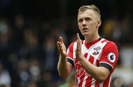 Southampton's James Ward-Prowse applauds fans after the game