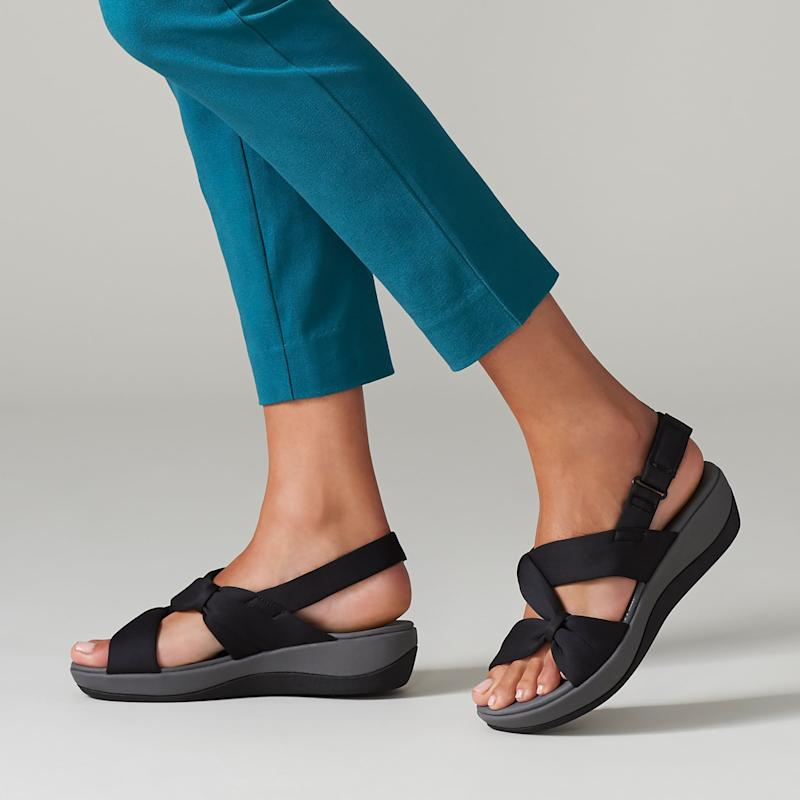 Soft-fabric sandals? Yes, please. (Photo: Clarks)