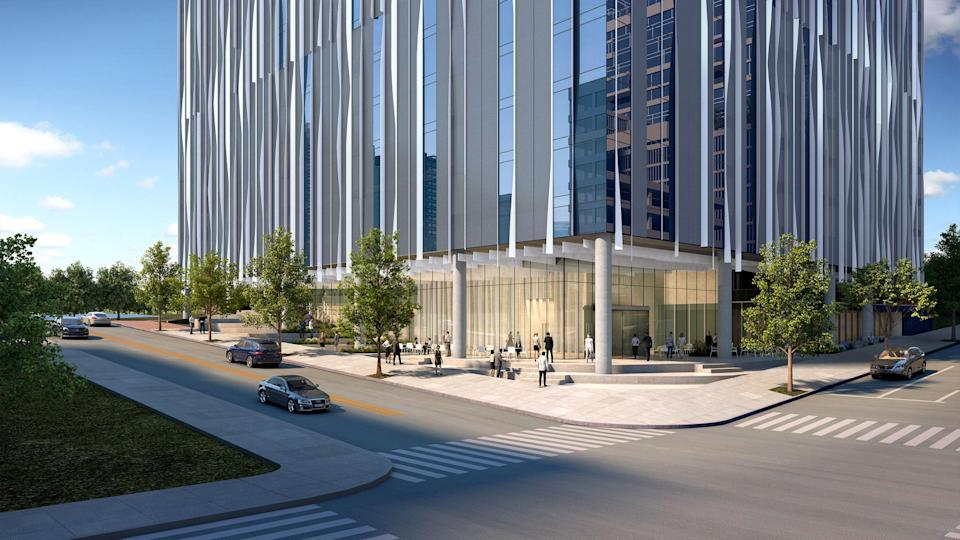 The ground level experience will expand upon Harwood Hospitality Group's restaurant, café, and bar collection