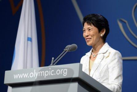 FILE PHOTO - Japan's Princess Takamado speaks during the presentation by the Tokyo 2020 bid committee to host the 2020 Summer Olympic Games, in Buenos Aires September 7, 2013. REUTERS/Fabrice Coffrini/Pool