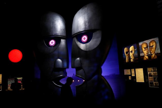 <p>Visitors are silhouetted at The Pink Floyd Exhibition: Their Mortal Remains at the V&A Museum in London, Britain May 9, 2017. (Photo: Stefan Wermuth/Reuters) </p>