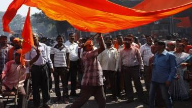 """In a caustic attack on the Centre, the Shiv Sena today said the violence during a nationwide bandh by Dalits to protest the softening of provisions of the SC/ST Act is a reflection of a """"weak"""" and """"selfish leadership""""."""