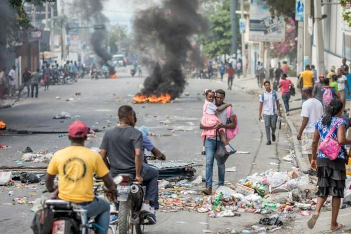 In recent years, angry Haitians have demonstrated against what they call rampant government corruption and unchecked crime by gangs, including this protest on January 15, 2021 in Port-au-Prince