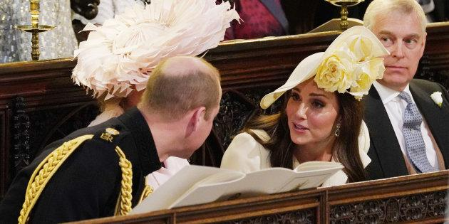 The Duke and Duchess of Cambridge at Prince Harry and Meghan Markle's wedding.