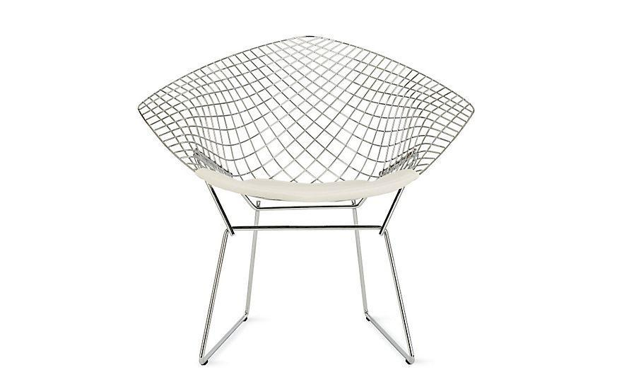 """<p><strong>Harry Bertoia</strong></p><p>dwr.com</p><p><a href=""""https://go.redirectingat.com?id=74968X1596630&url=https%3A%2F%2Fwww.dwr.com%2Fliving-lounge-chairs%2Fbertoia-diamond-lounge-chair%2F469098.html&sref=https%3A%2F%2Fwww.housebeautiful.com%2Fdesign-inspiration%2Fg30750815%2Fchair-types-styles-designs%2F"""" rel=""""nofollow noopener"""" target=""""_blank"""" data-ylk=""""slk:Shop Now"""" class=""""link rapid-noclick-resp"""">Shop Now</a></p><p>When Harry Bertoia went to work for his onetime Cranbrook Academy classmate Florence Knoll and her husband Hans at their Pennsylvania manufacturer, he began designing furniture that straddled the line between art and function. The Diamond Chair, part of his 1952 Bertoia seating collection, is the perfect example of this. """"If you look at the chairs, they are mainly made of air, like sculpture,"""" Bertoia said. """"Space passes through them.""""</p>"""