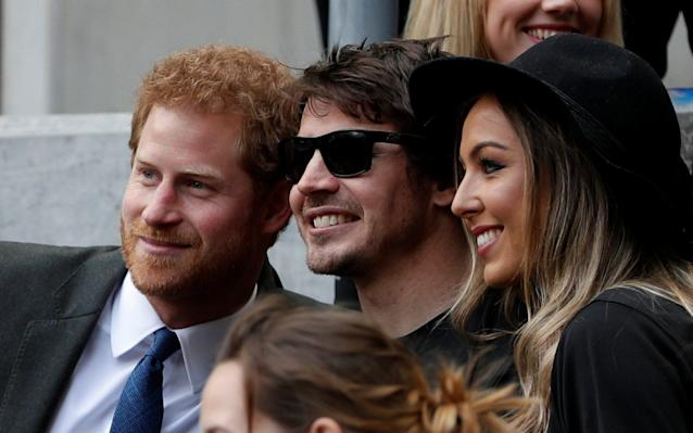<span>Prince Harry poses for a photograph at Twickenham</span> <span>Credit: Reuters </span>