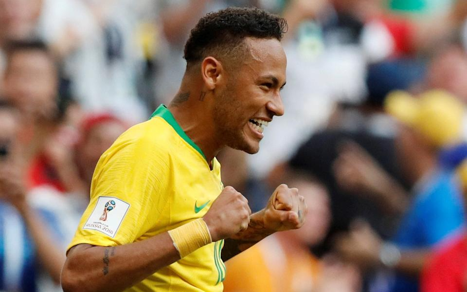 Neymar, playing for Brazil in 2018, earns vastly more than the best-paid female Brazilian player - REUTERS