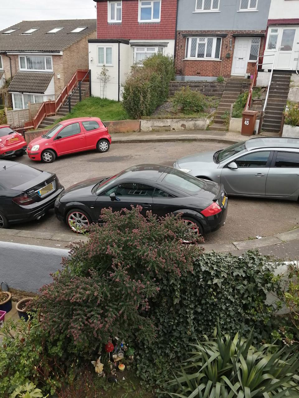 The couple say their car has been deliberately blocked in in the past. (Caters)