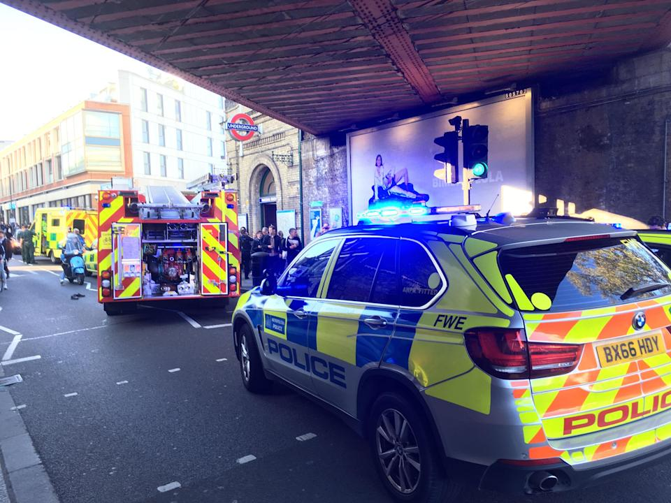 <p>Emergency services rushed to the scene in West London after the blast at around 8.20am. (PA) </p>