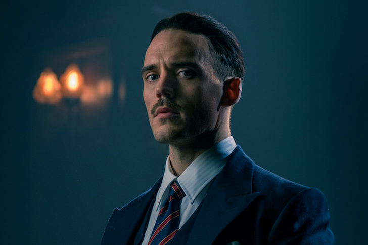 Sam Claflin joins the cast of 'Peaky Blinders' in series five as fascist MP Oswald Mosley. (Credit: BBC)