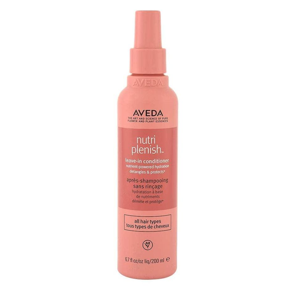 """<h2>Aveda Nutriplenish Leave-In Conditioner<br></h2><br>""""I have pretty long hair, and a running problem in my life is that it's always getting tangled. Regular appointments to trim off my <a href=""""https://www.refinery29.com/en-us/how-to-repair-split-dry-ends"""" rel=""""nofollow noopener"""" target=""""_blank"""" data-ylk=""""slk:split ends"""" class=""""link rapid-noclick-resp"""">split ends</a> at my favorite salon <a href=""""https://www.fourteenjay.com/"""" rel=""""nofollow noopener"""" target=""""_blank"""" data-ylk=""""slk:Fourteenjay"""" class=""""link rapid-noclick-resp"""">Fourteenjay</a> beat back <em>some</em> of my issues, but I still get knots now and then, especially when I go on runs or to the beach. But, just in time for summer, I found this leave-in conditioner that lets me run a brush through my tresses without grimacing. It prevents my chronic tangling, and also leaves my mane looking shiny and healthy."""" — <em>Molly Longman, Health + Wellness writer</em><br><br><strong>Aveda</strong> Aveda Nutriplenish Leave-in Conditioner, $, available at <a href=""""https://go.skimresources.com/?id=30283X879131&url=https%3A%2F%2Fwww.aveda.com%2Fproduct%2F5293%2F71190%2Fhair-care%2Fconditioner%2Fnutriplenish-leave-in-conditioner%23%2Fshade%2F6.7_fl_oz%252F200_ml"""" rel=""""nofollow noopener"""" target=""""_blank"""" data-ylk=""""slk:Aveda"""" class=""""link rapid-noclick-resp"""">Aveda</a>"""