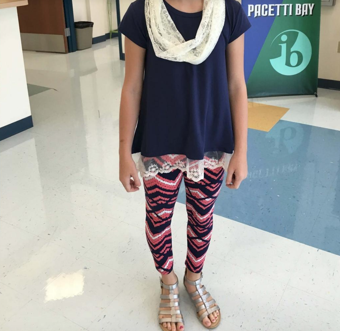 An unidentified sixth-grader who was reportedly in violation of the dress code at Pacetti Bay Middle School in St. Augustine, Fla. (Photo: Facebook)