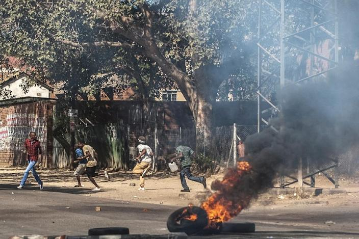 The recent protests in Bulawayo and other Zimbabwean cities have revealed long-simmering frustrations in a country where 90 percent of the population is not in formal employment (AFP Photo/)